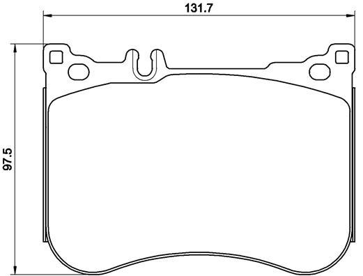 Колодки тормозные дисковые Brembo, передние. P50114P50114