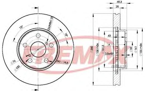 Диск тормозной Fremax, 2 шт. BD-5030BD-5030