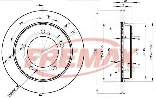 Диск тормозной Fremax, 2 шт. BD-5600BD-5600