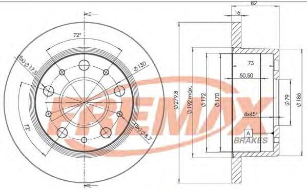 Диск тормозной Fremax. BD-4696BD-4696