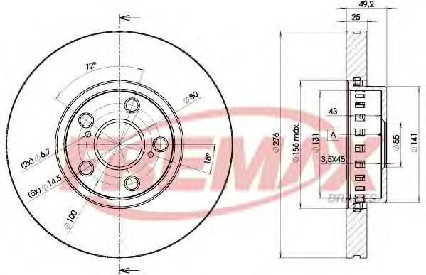 Диск тормозной Fremax, 2 шт. BD-5060BD-5060