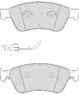 Колодки тормозные дисковые Ferodo Premier. FDB1832FDB1832