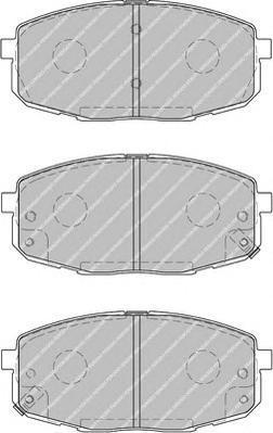 Колодки тормозные дисковые Ferodo Premier. FDB1869FDB1869