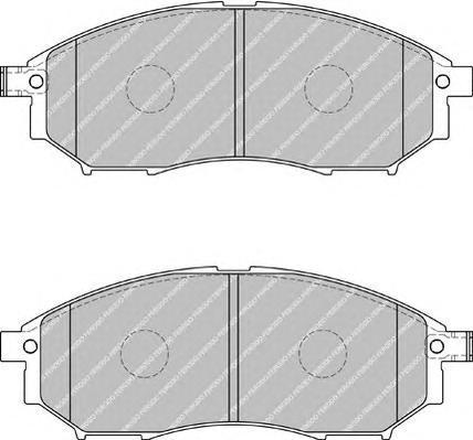 Колодки тормозные дисковые Ferodo Premier. FDB1881FDB1881