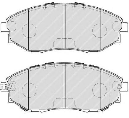 Колодки тормозные дисковые Ferodo Premier. FDB4304FDB4304