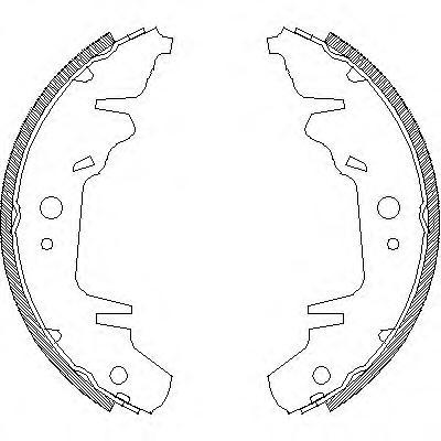 Колодки тормозные дисковые Remsa, комплект. 402000402000