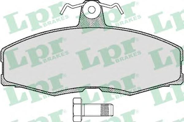 Колодки тормозные дисковые LPR / AP. 05P23405P234