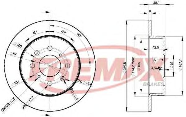 Диск тормозной Fremax, 2 шт. BD-5105BD-5105