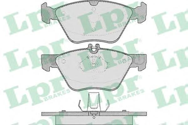 Колодки тормозные дисковые LPR / AP. 05P40605P406