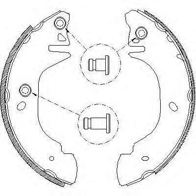 Колодки тормозные дисковые Remsa, комплект. 430501430501