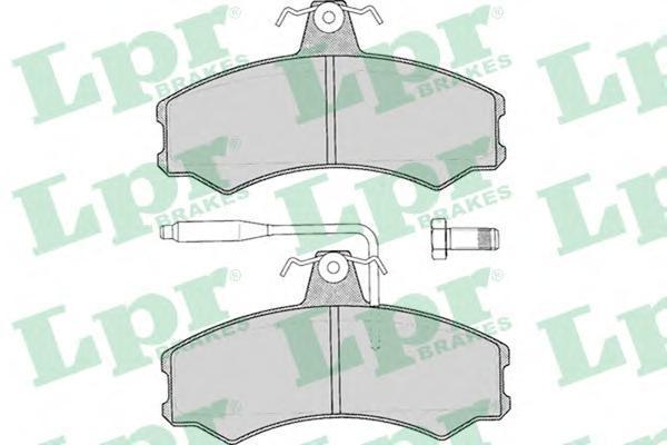 Колодки тормозные дисковые LPR / AP. 05P01205P012