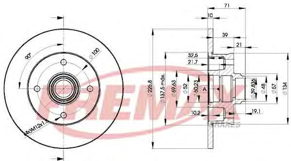Диск тормозной Fremax. BD-3393BD-3393