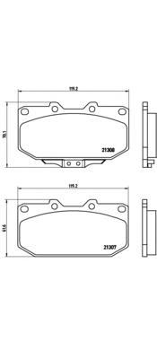 Колодки тормозные дисковые Brembo, комплект. P56025P56025