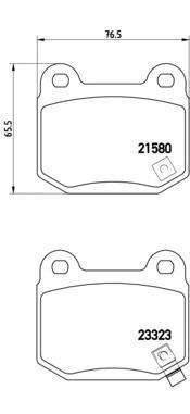 Колодки тормозные дисковые Brembo, комплект. P56048P56048