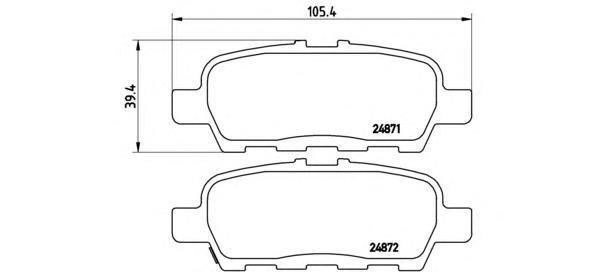 Колодки тормозные дисковые Brembo, комплект. P56068P56068