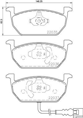 Колодки тормозные дисковые Brembo, передние. P85137P85137