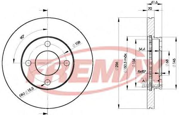 Диск тормозной Fremax, 2 шт. BD-3638BD-3638