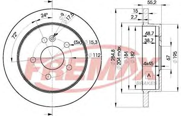 Диск тормозной Fremax, 2 шт. BD-4230BD-4230
