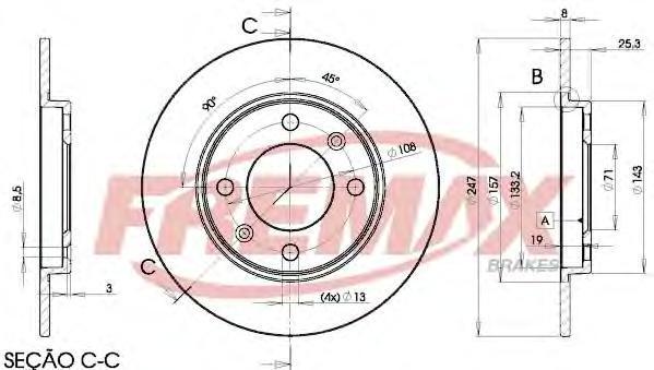 Диск тормозной Fremax, 2 шт. BD-4247BD-4247