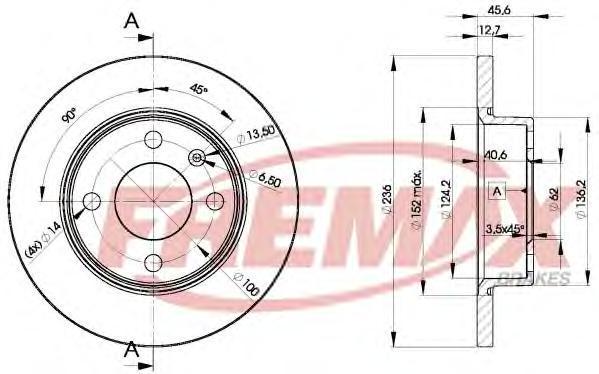Диск тормозной Fremax, 2 шт. BD-4322BD-4322
