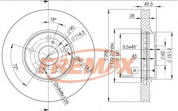 Диск тормозной Fremax, 2 шт. BD-4401BD-4401