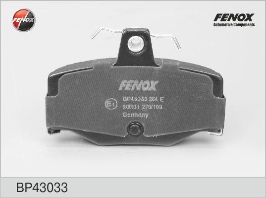 Колодки тормозные дисковые Fenox. BP43033BP43033