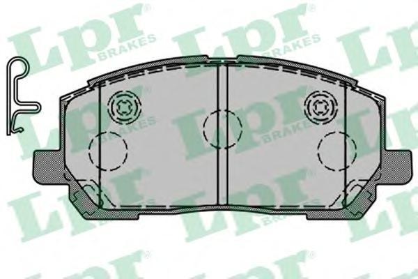 Колодки тормозные дисковые LPR / AP, комплект. 05P151605P1516