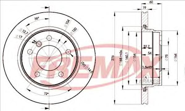 Диск тормозной Fremax, 2 шт. BD-2315BD-2315