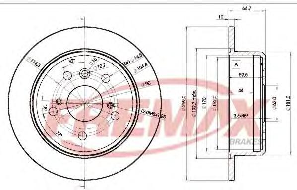 Диск тормозной Fremax, 2 шт. BD-2443BD-2443