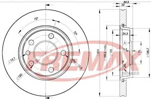 Диск тормозной Fremax, 2 шт. BD-3021BD-3021