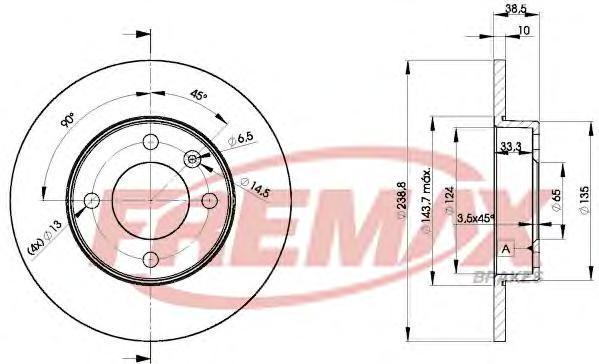 Диск тормозной Fremax, 2 шт. BD-3325BD-3325