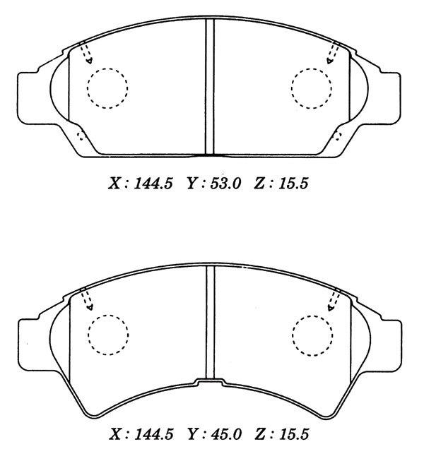 Колодки тормозные дисковые Kashiyama, передние. D2102D2102