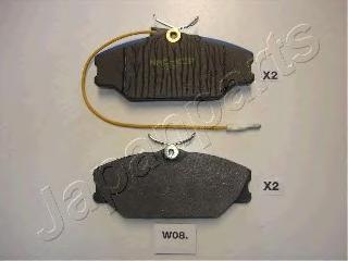 Колодки тормозные дисковые Japanparts, комплект. PA-W08AFPA-W08AF