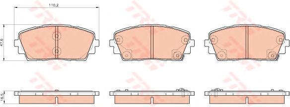 Колодки тормозные дисковые TRW. GDB3535GDB3535