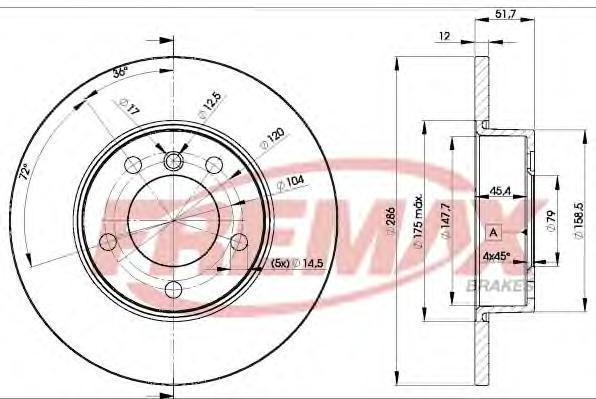 Диск тормозной Fremax, 2 шт. BD-0673BD-0673