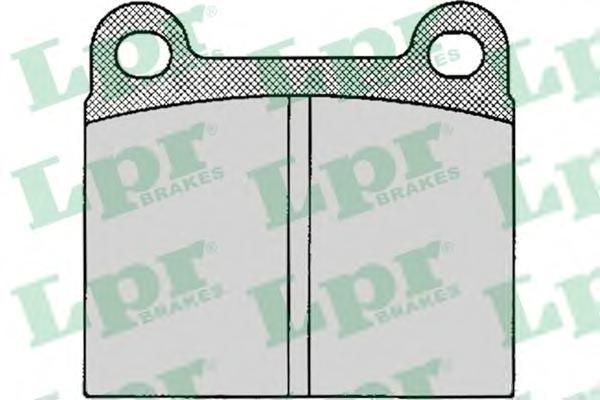 Колодки тормозные дисковые LPR / AP. 05P02405P024