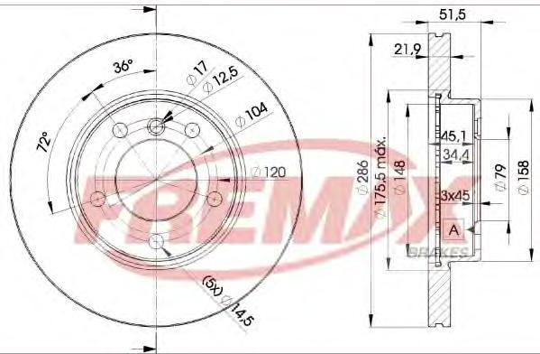 Диск тормозной Fremax, 2 шт. BD-0674BD-0674