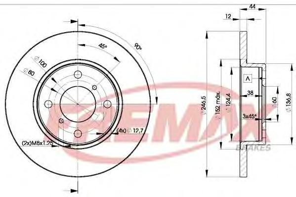 Диск тормозной Fremax, 2 шт. BD-0711BD-0711