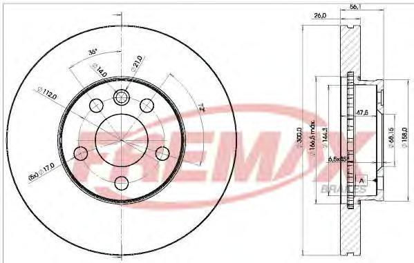 Диск тормозной Fremax, 2 шт. BD-1531BD-1531
