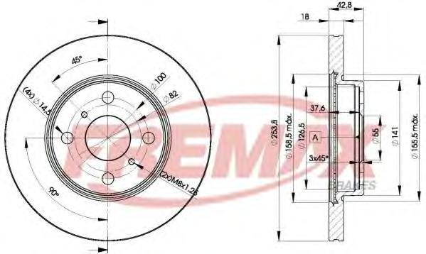 Диск тормозной Fremax, 2 шт. BD-1608BD-1608