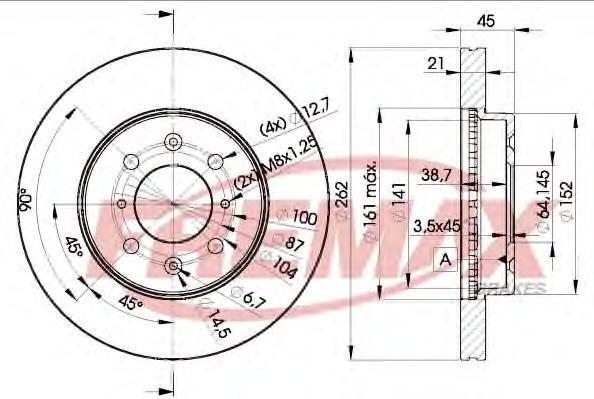 Диск тормозной Fremax, 2 шт. BD-1700BD-1700