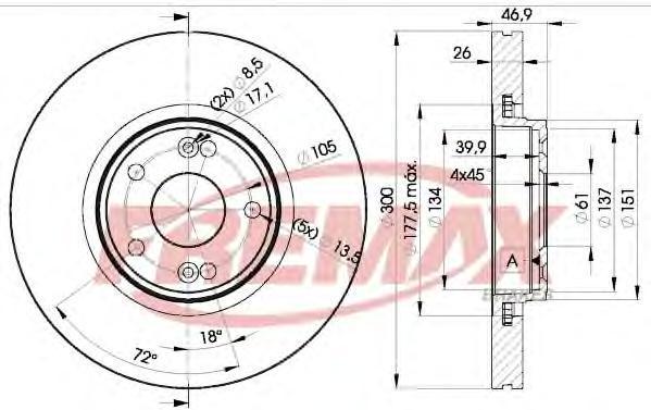 Диск тормозной Fremax, 2 шт. BD-2235BD-2235
