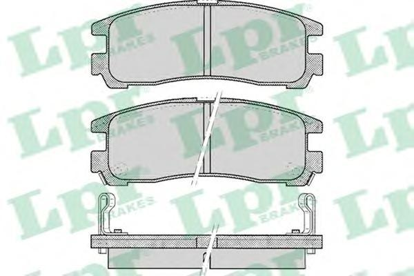 Колодки тормозные дисковые LPR / AP. 05P04305P043
