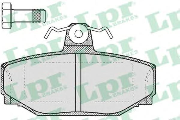 Колодки тормозные дисковые LPR / AP. 05P21705P217