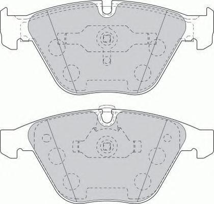 Колодки тормозные дисковые Ferodo Premier. FDB1628FDB1628