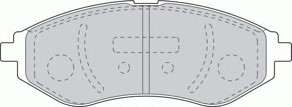 Колодки тормозные дисковые Ferodo Premier. FDB1699FDB1699