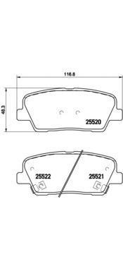 Колодки тормозные дисковые Brembo. P30063P30063