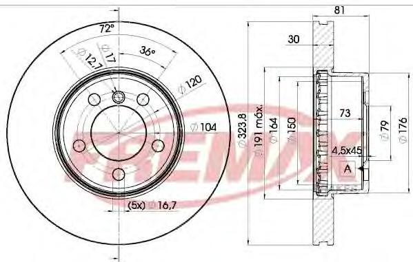 Диск тормозной Fremax, 2 шт. BD-0265BD-0265
