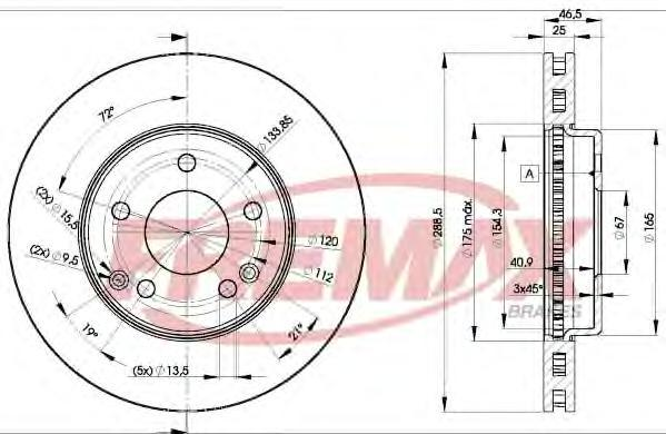Диск тормозной Fremax, 2 шт. BD-0410BD-0410
