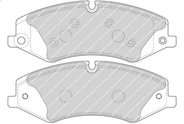 Колодки тормозные дисковые Ferodo, комплект. FDB4455FDB4455